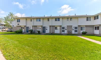 Building, Midway Square Townhomes - Affordable, 1