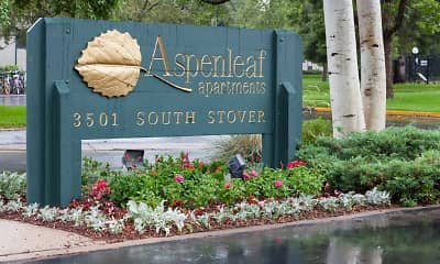 Community Signage, Aspenleaf Apartments, 0