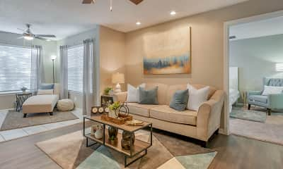Living Room, The Summit at Metrowest Apartments, 0