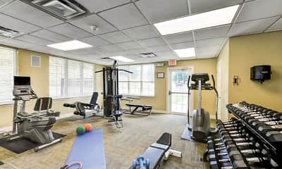 Fitness Weight Room, Village Square Townhomes and Apartments, 1
