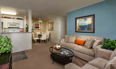Living Room, Terra Vista Apartments & Townhomes, 1