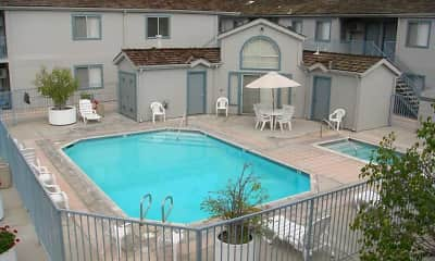 Pool, Indiana Avenue Apartments, 1