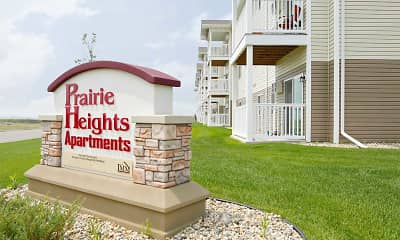 Community Signage, Prairie Heights Apartments, 1