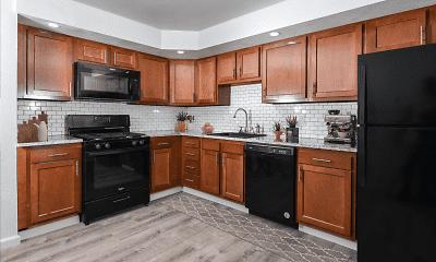 Kitchen, Winston Square Apartments, 1