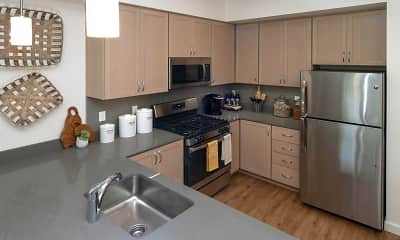 Kitchen, Amazon Corner Apartments, 0
