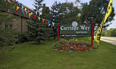 Community Signage, Carriage Way Apartments, 0