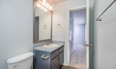 Bathroom, Harlowe Apartments, 1