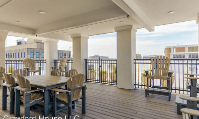 Patio / Deck, Crawford House Apartments, 0