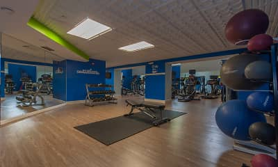 Fitness Weight Room, Ellipse at Fairfax Corner, 1