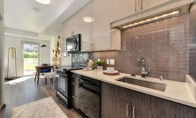 Kitchen, Rivet Apartments, 0