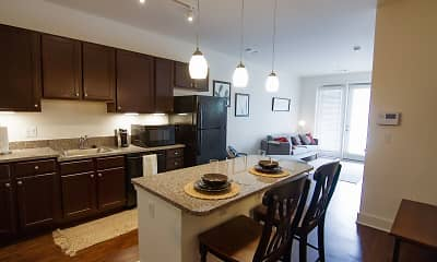 Kitchen, Jackson Walk Apartments, 2