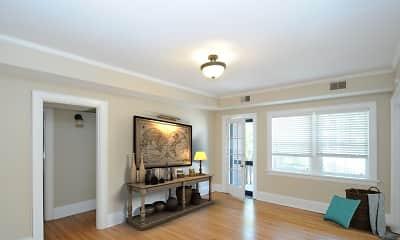 Living Room, Lindsay 414 Apartments, 1