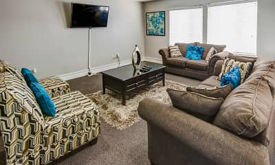 Living Room, Country Lake Townhomes, 1