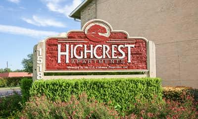 Community Signage, Highcrest Apartments, 0