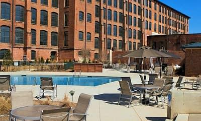 Pool, Loray Mill Lofts Apartments, 1