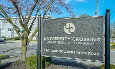 Community Signage, University Crossing Apartments, 2