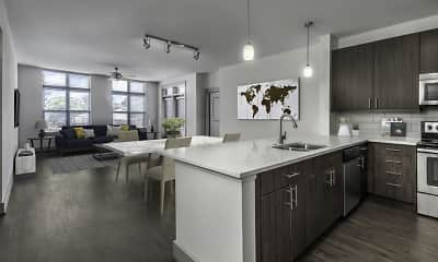 Kitchen, Camden Southline Apartments, 1