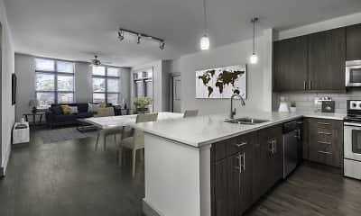 Kitchen, Camden Southline Apartments, 0