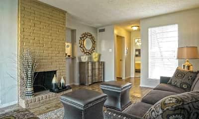Living Room, Keller Oaks Apartments, 1