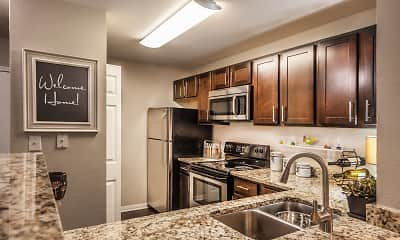 Kitchen, River Crossing At Keystone Apartments, 1