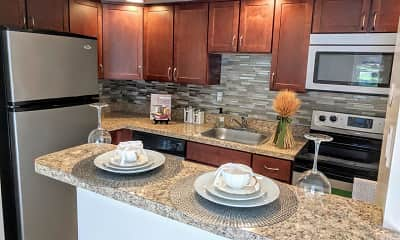 Kitchen, Waterview Apartments, 0
