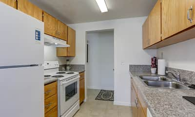 Kitchen, Sunnyside Park Apartments, 1