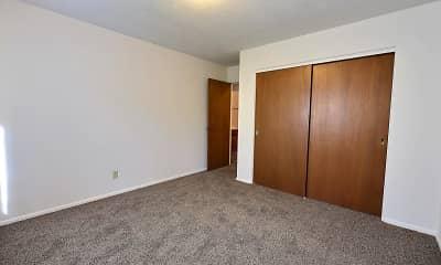 Bedroom, River North Apartments, 2