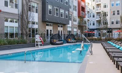 Pool, Station on Silver Apartments, 1
