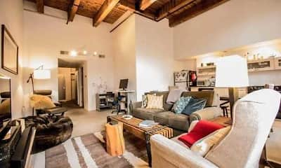 Living Room, The Brake House Lofts, 0