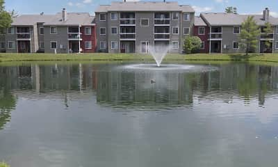 Lake, Deercross Apartments, 0