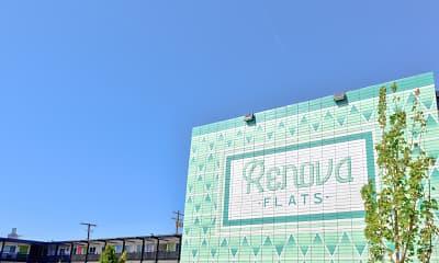 Community Signage, Renova Flats, 2