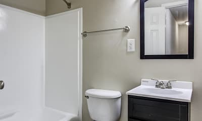 Bathroom, Westgate Apartments And Townhomes, 2