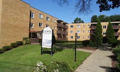 Community Signage, Carol Apartments, 0