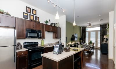 Kitchen, Desoto Town Center Apartments, 1