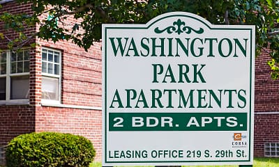 Community Signage, Washington Park Apartments, 1