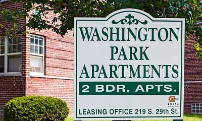 Community Signage, Washington Park Apartments, 1