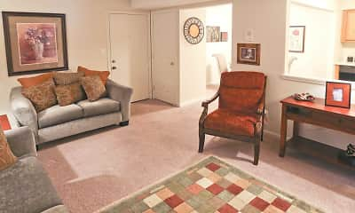 Living Room, Regency Court Apartments, 1