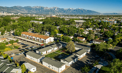 birds eye view of property, Morton Meadows Apartments, 2