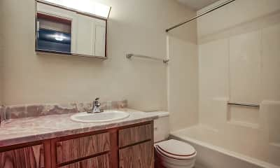Bathroom, El Dorado Court Apartments, 2