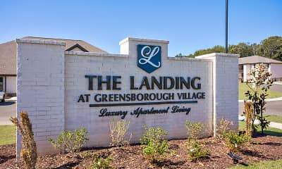 Community Signage, The Landing at Greensborough Village, 2