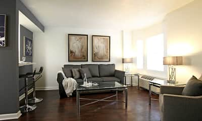 Living Room, Fountainbleau Apartments, 1