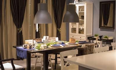 Dining Room, Capella Apartments, 1