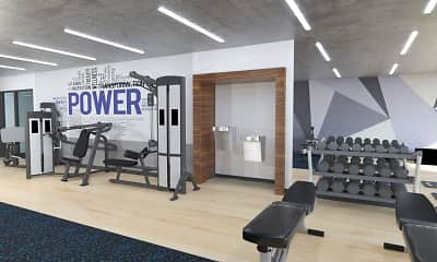 Fitness Weight Room, The Maynard at 5115 N Sheridan, 2