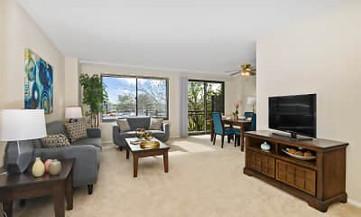 Living Room, Plaza Towers Apartments, 1