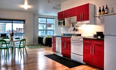 Kitchen, Bluestone Downtown Apartments & Lofts, 0