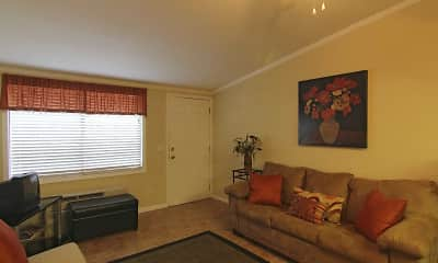 Living Room, The Bungalows Of Port Orange Apartments, 1