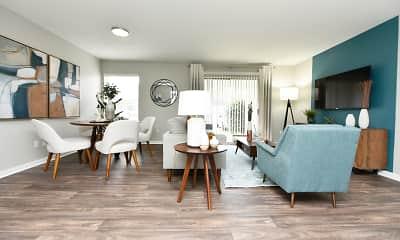 Living Room, Emery Apartment Homes, 1