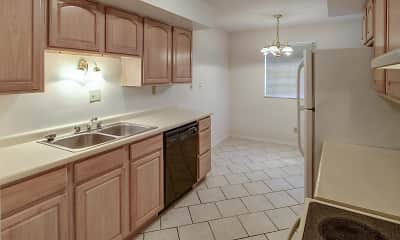 Kitchen, Colonial Crest Apartments, 2