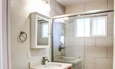 Bathroom, Parklane Apartments, 2