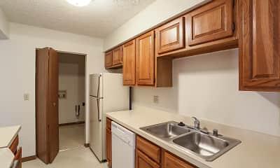 Kitchen, Seven Oaks Apartments, 2